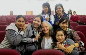 jeni with students HCMC
